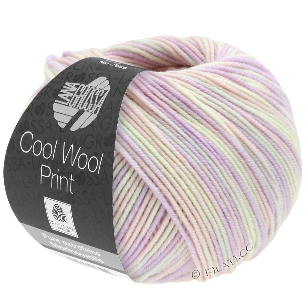 Lana Grossa COOL WOOL  Uni/Melange/Print/Degradé/Neon | 747-мягко-розовый/сирень/натуральный