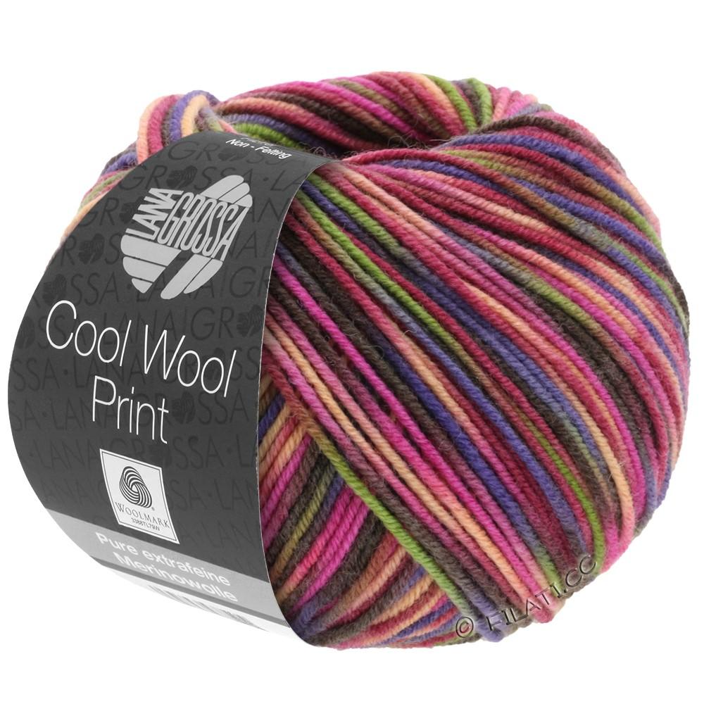 Lana Grossa COOL WOOL  Print | 749-красное вино/пинк/оливковый/сине-фиолетовый/лососевый/кофе мокко