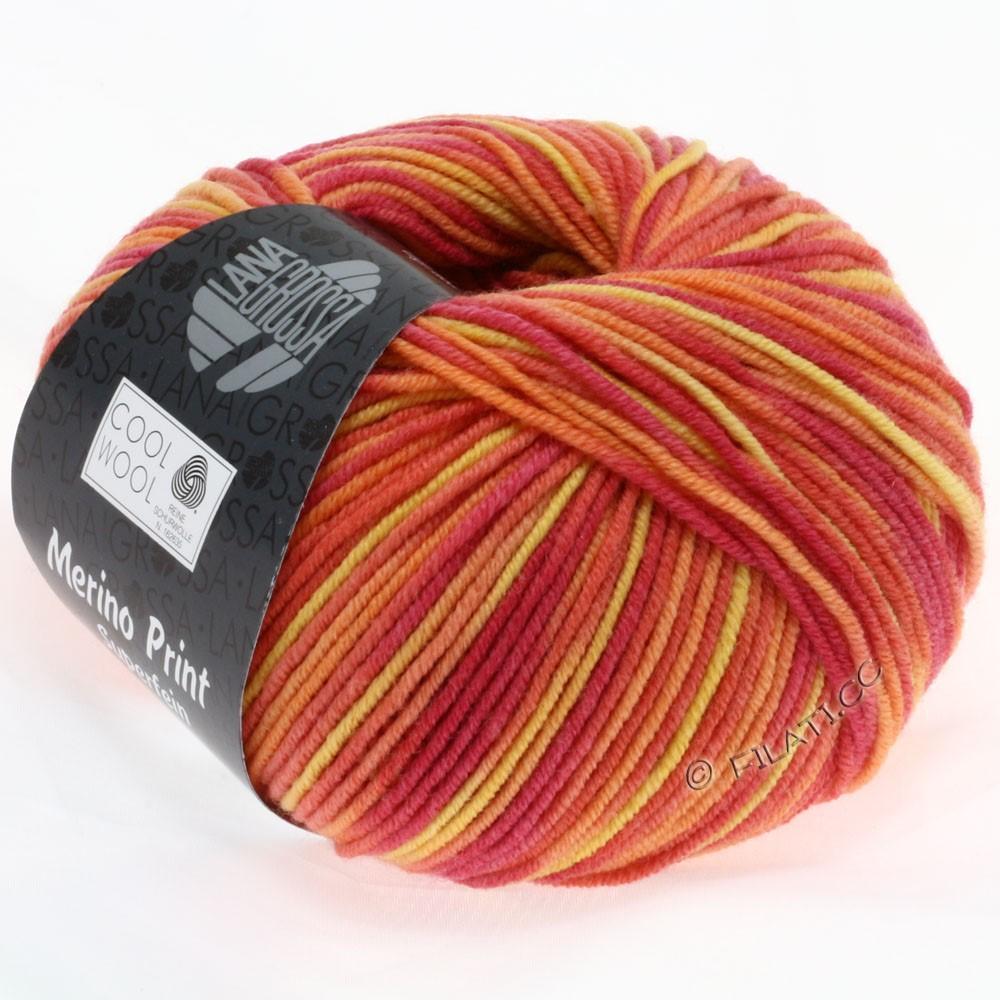 Lana Grossa COOL WOOL  Uni/Melange/Print/Degradé/Neon | 755-малиновый/оранжевый/жёлтый
