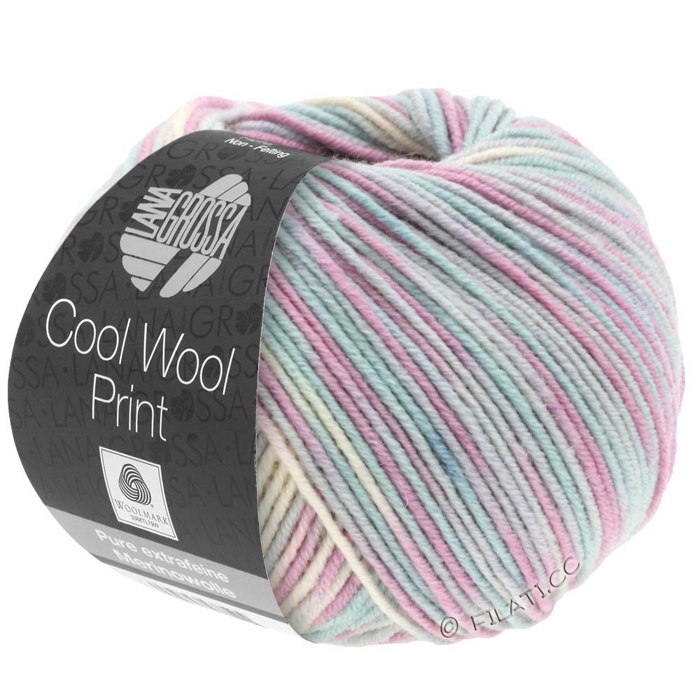 Lana Grossa COOL WOOL  Uni/Melange/Print/Degradé/Neon | 792-серебристо-серый/мята/сирень/бледно-розовый
