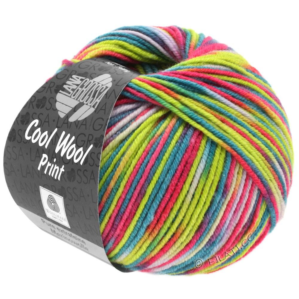 Lana Grossa COOL WOOL  Uni/Melange/Print/Degradé/Neon | 798-пинк/жёлто-зеленый/натуральный/бирюзовый/петроль/оранжевый