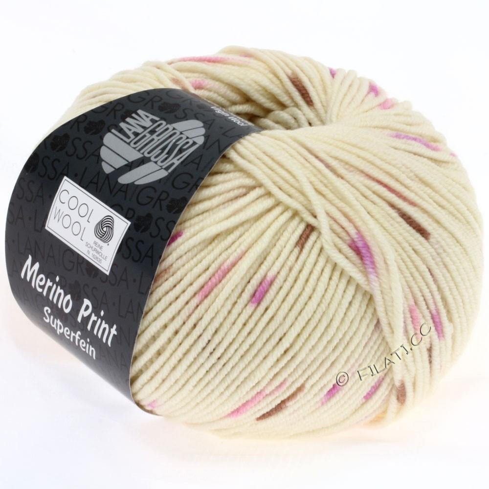 Lana Grossa COOL WOOL  Uni/Melange/Print/Degradé/Neon | 804-натуральный/розовый/сирень/серо-коричневый