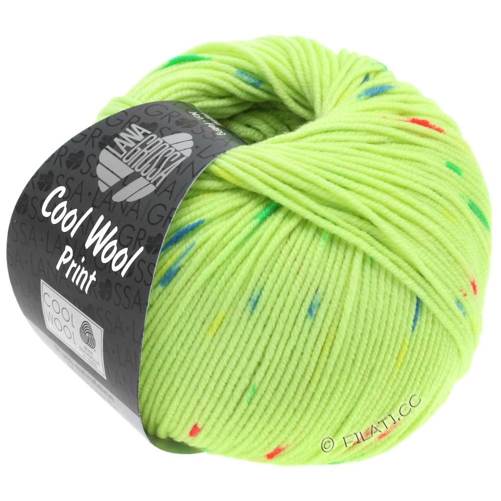 Lana Grossa COOL WOOL  Print | 809-светло-зелёный/пинк/зелёный/синий