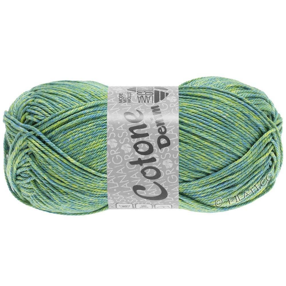 Lana Grossa COTONE  Print/Denim | 705-сине-зелёный/жёлто-зеленый/липовый
