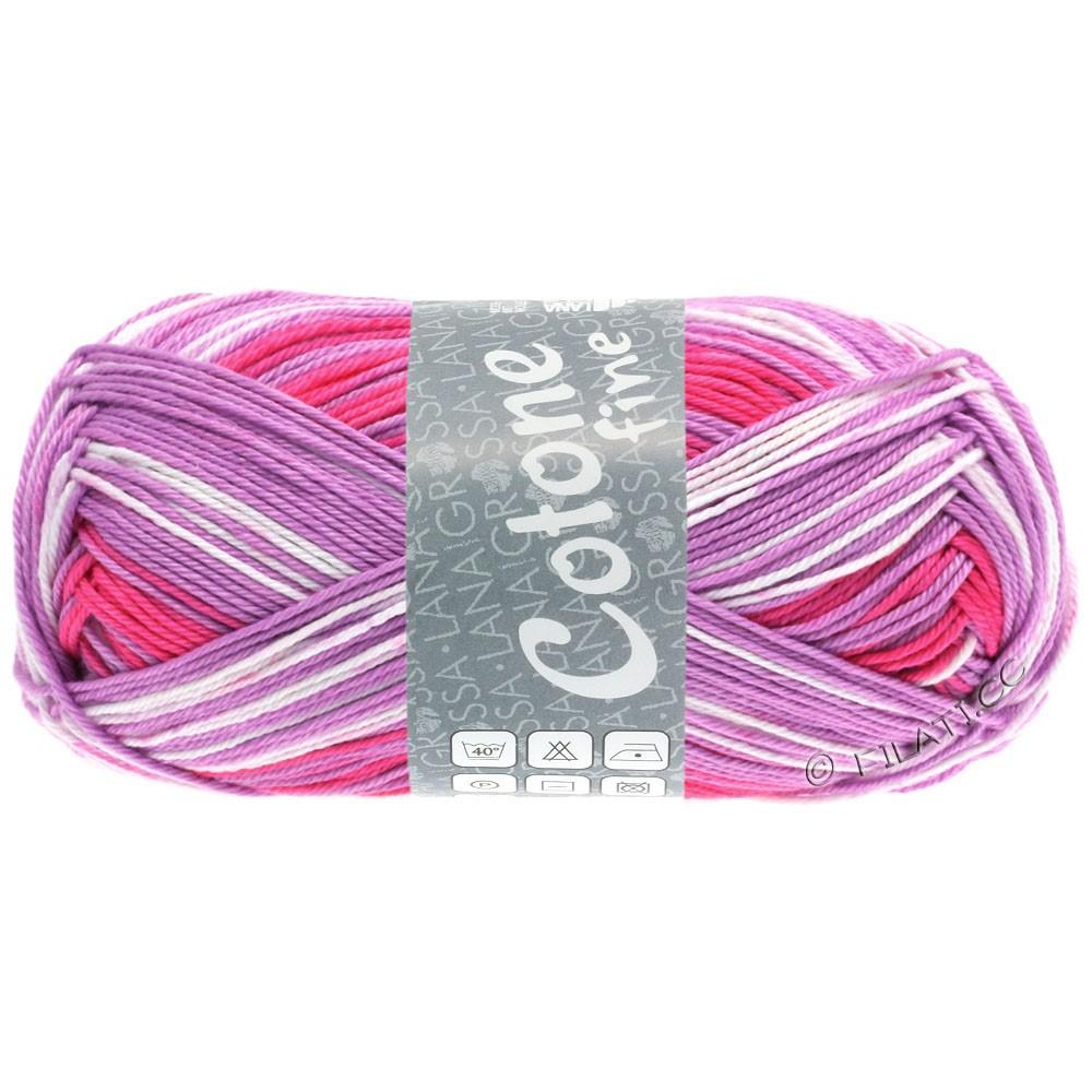Lana Grossa COTONE FINE Print | 804-Деликатный розового/гвоздика/пинк/фиолетовый
