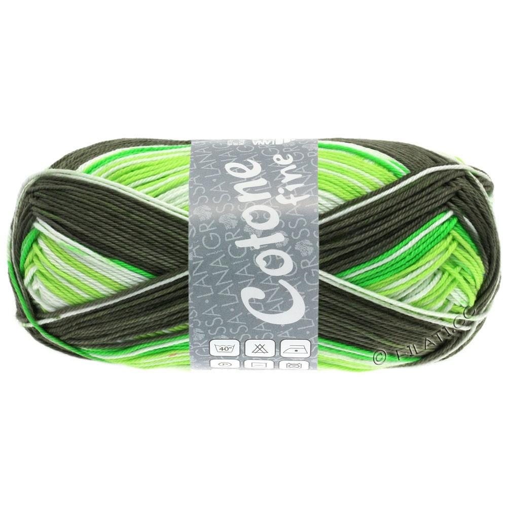 Lana Grossa COTONE FINE Print | 806-деликатным зеленый/светло-зеленый/зеленый-Май/зеленый коричневый
