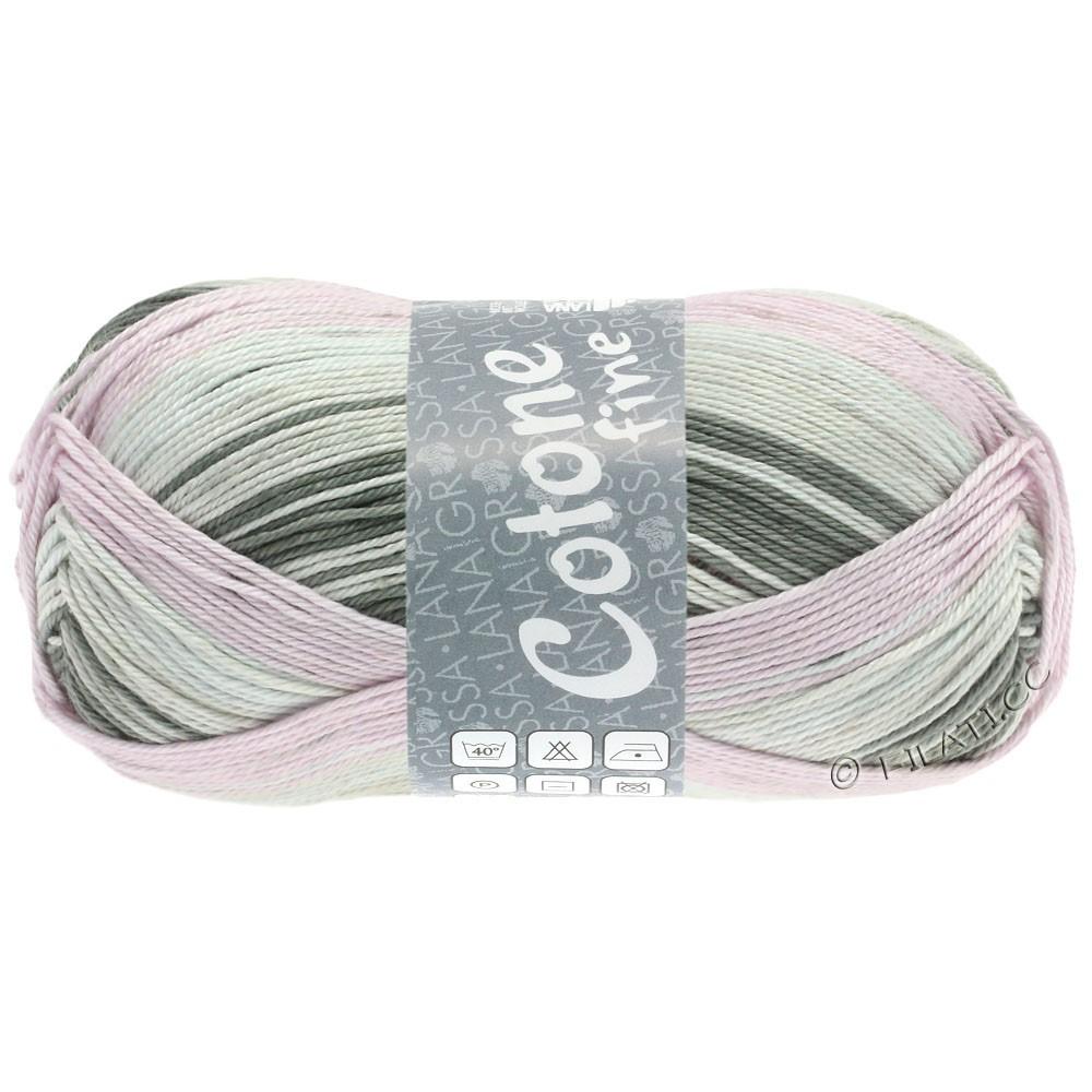 Lana Grossa COTONE FINE Print | 810-серый бежевый/розе/светло-бежевый/серовато-коричневый