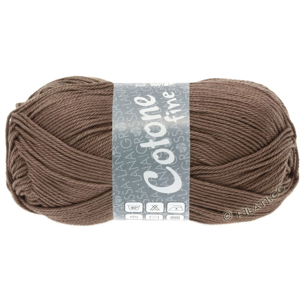 Lana Grossa COTONE FINE | 630-серо-коричневый