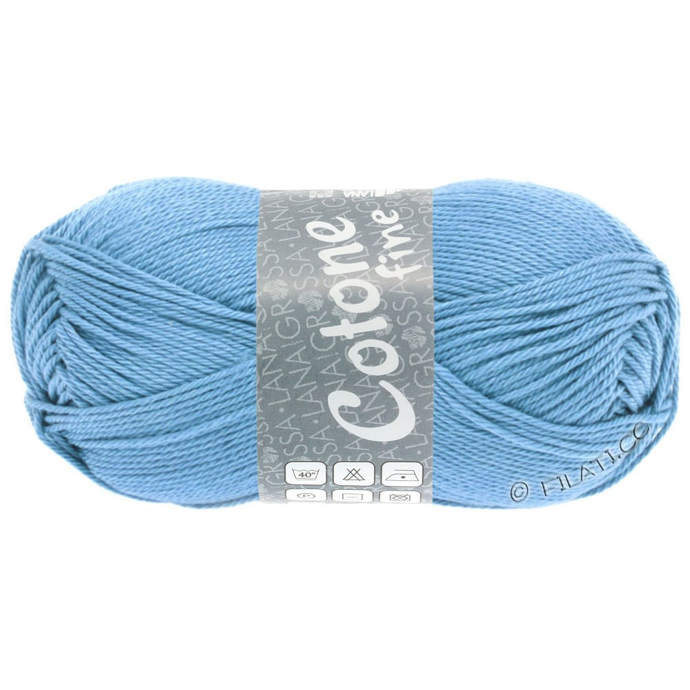 Lana Grossa COTONE FINE | 655-голубой