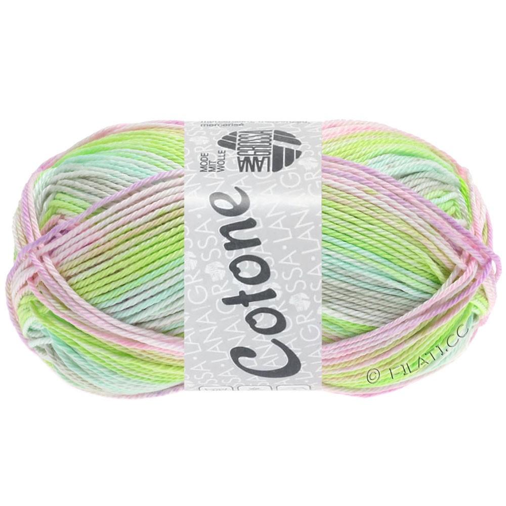 Lana Grossa COTONE  Print/Denim | 251-мягко-зеленый/мягко-серый/розовый/сирень светлый/зеленовато-желтый