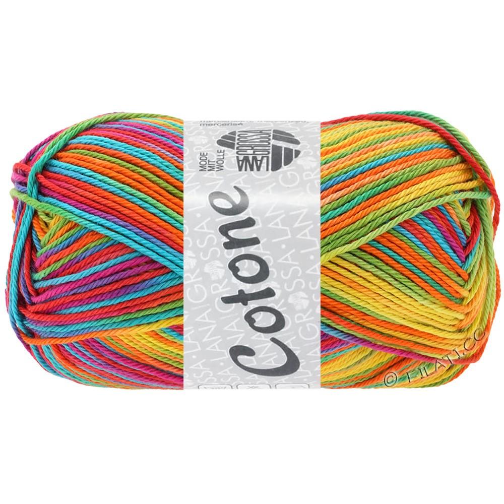 Lana Grossa COTONE  Print/Denim | 306-жёлтый/оранжевый/бирюзовый/зелёный/коралловый/фиолетовый