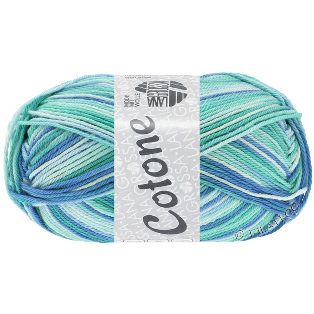 Lana Grossa COTONE  Print/Denim | 312-зеленовато-голубой/светло-бирюзовый/синий