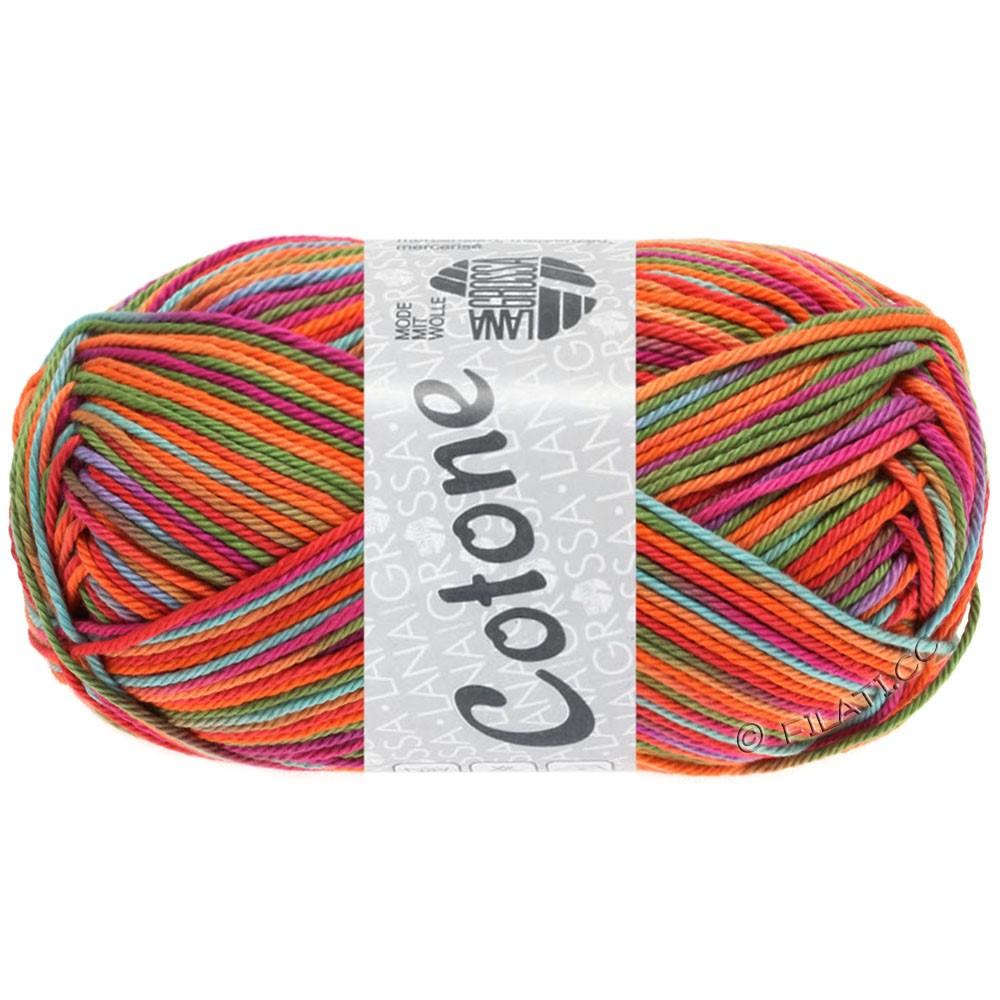 Lana Grossa COTONE  Print/Denim | 324-пинк/цикламеновый/оранжевый/бирюзовый/зелёный/пурпурный
