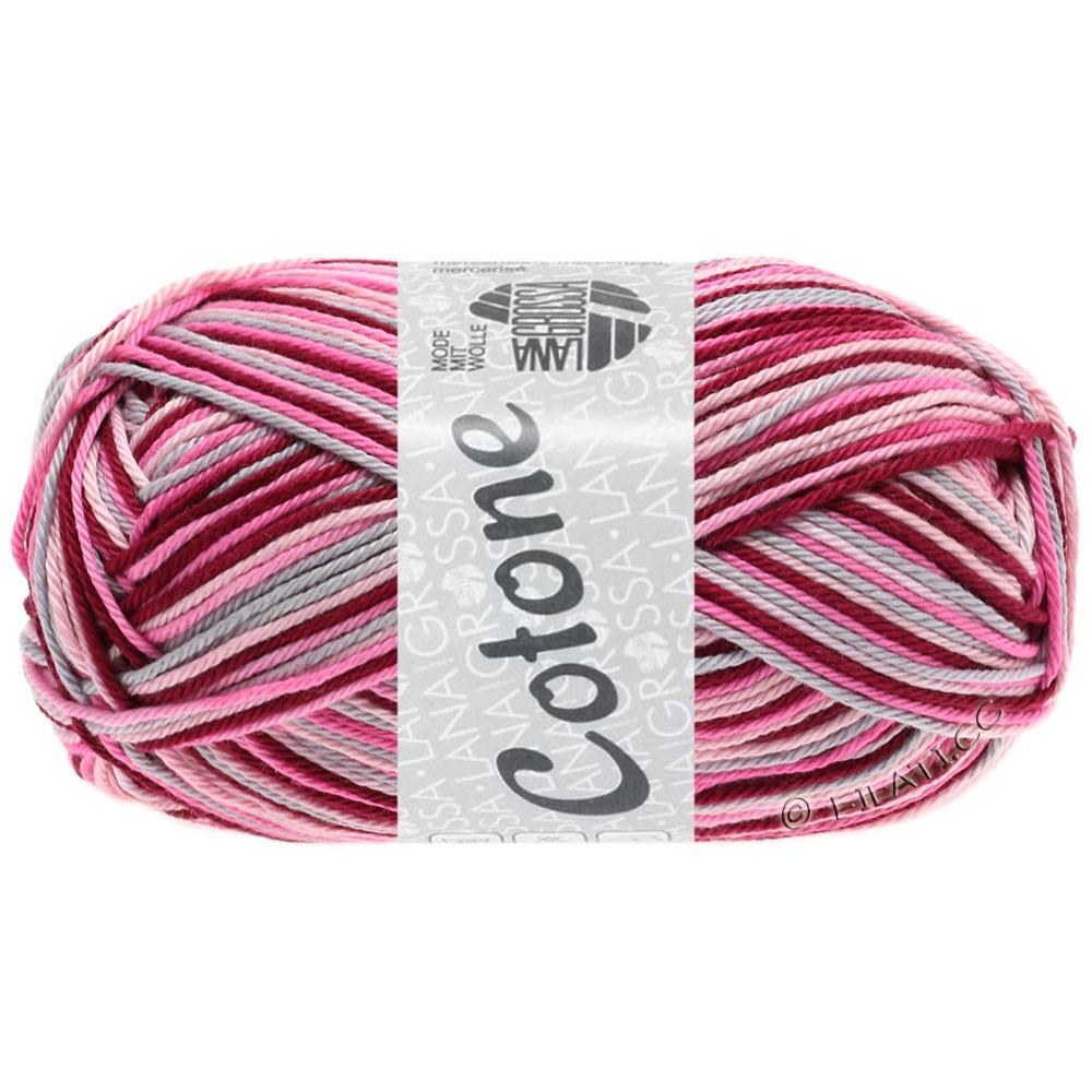 Lana Grossa COTONE  Print/Denim | 327-розовый/пинк/бордо/светло-серый