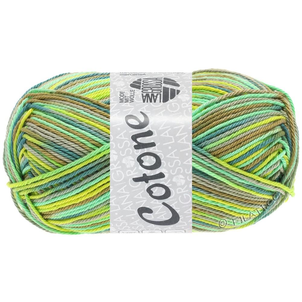 Lana Grossa COTONE  Print/Denim | 331-жёлто-зеленый/хаки/петроль/светло-зелёный/серо- бежевый