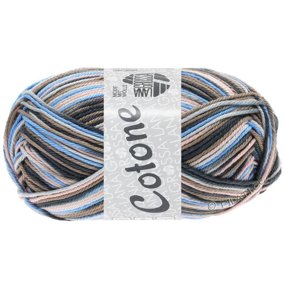 Lana Grossa COTONE  Print/Denim | 332-светло-серый/серо-коричневый/светло-голубой/антрацитовый