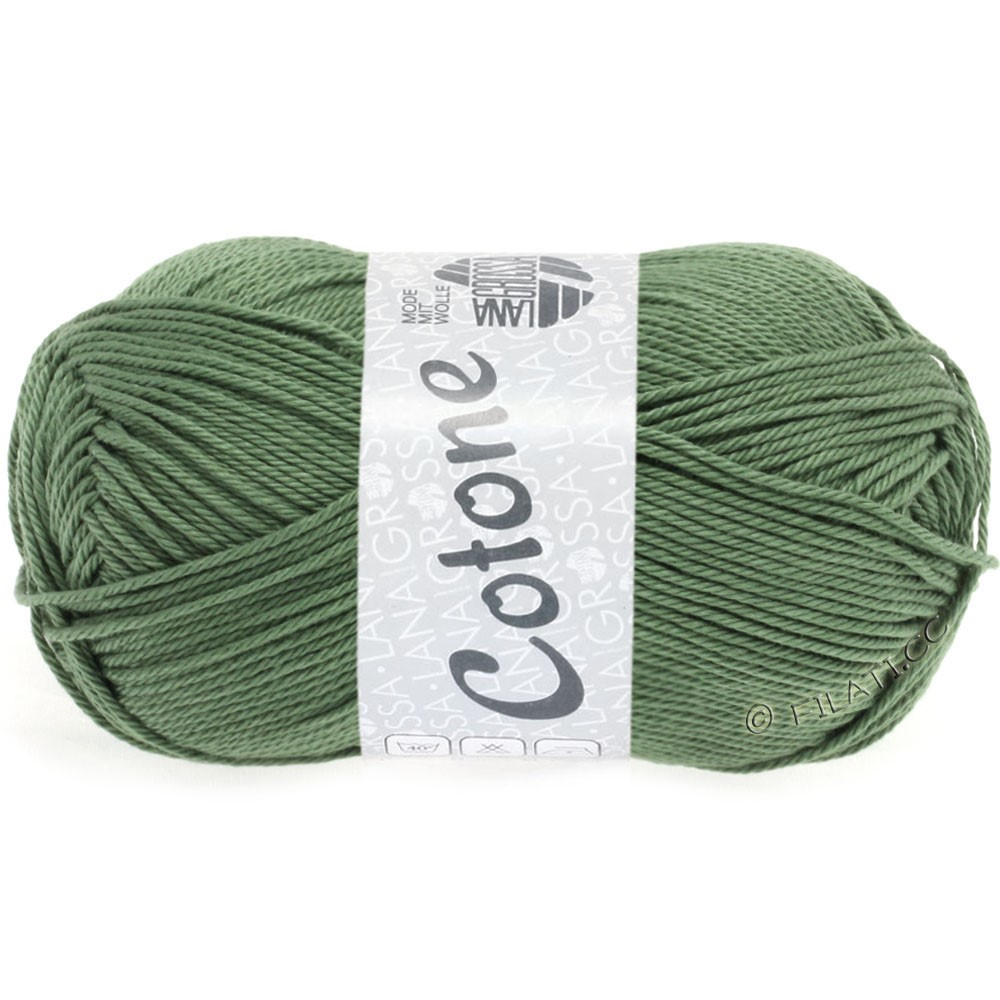 Lana Grossa COTONE | 48-серо-зеленый