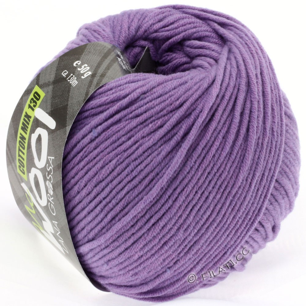 Lana Grossa COTTON MIX 130 (McWool) | 123-пурпурный