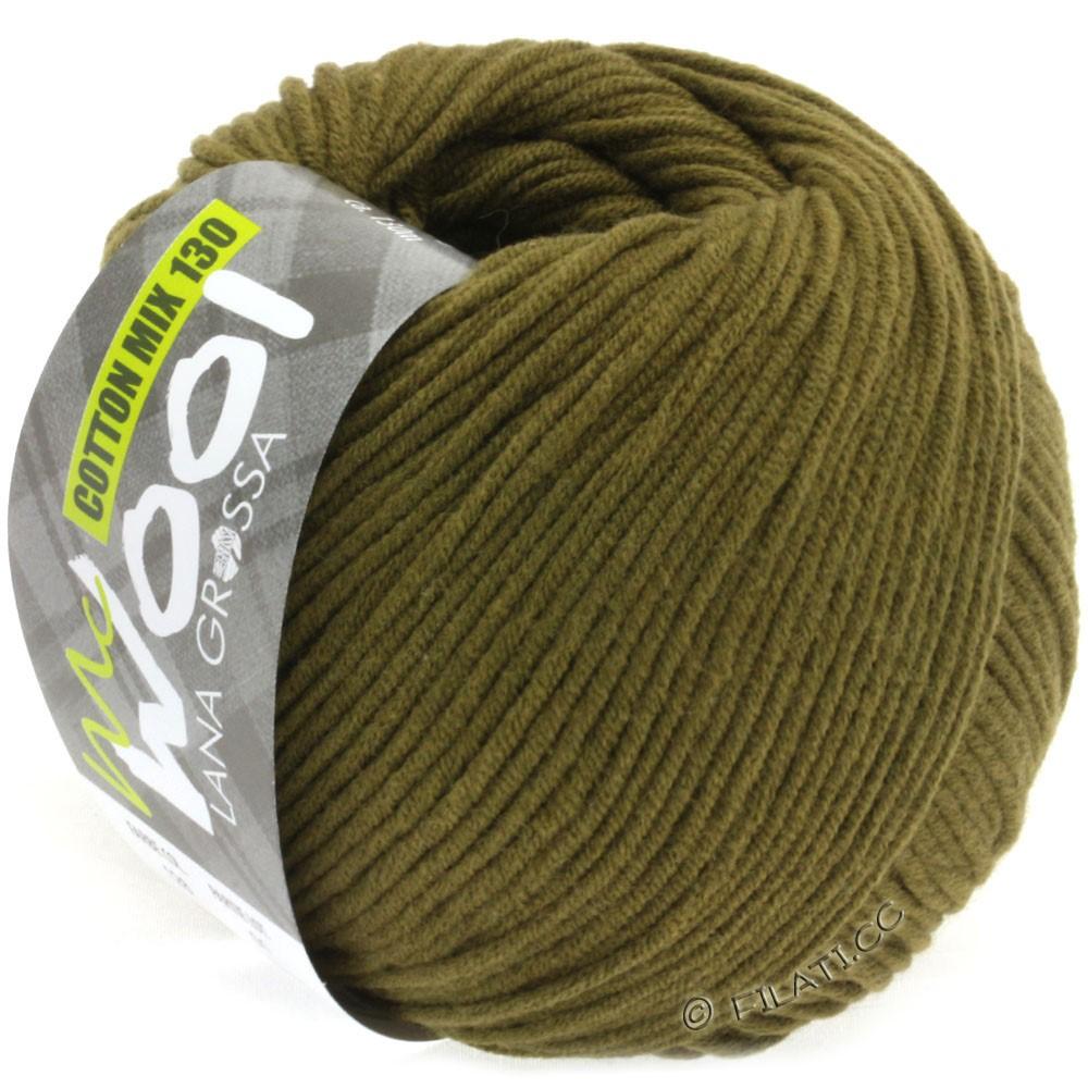 Lana Grossa COTTON MIX 130 (McWool) | 128-оливковый