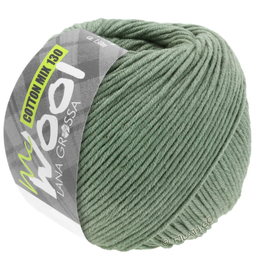 Lana Grossa COTTON MIX 130 (McWool) | 129-серо-зеленый