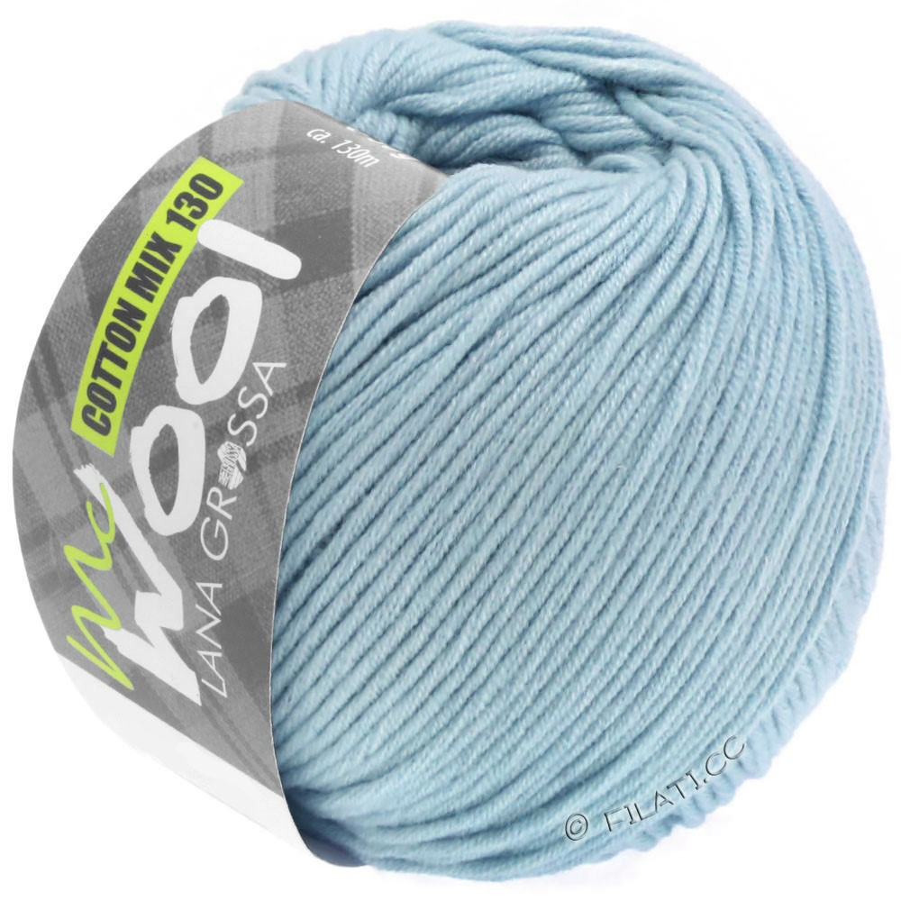 Lana Grossa COTTON MIX 130 (McWool) | 150-светло-голубой