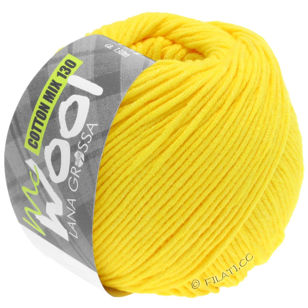 Lana Grossa COTTON MIX 130 (McWool) | 151-жёлтый