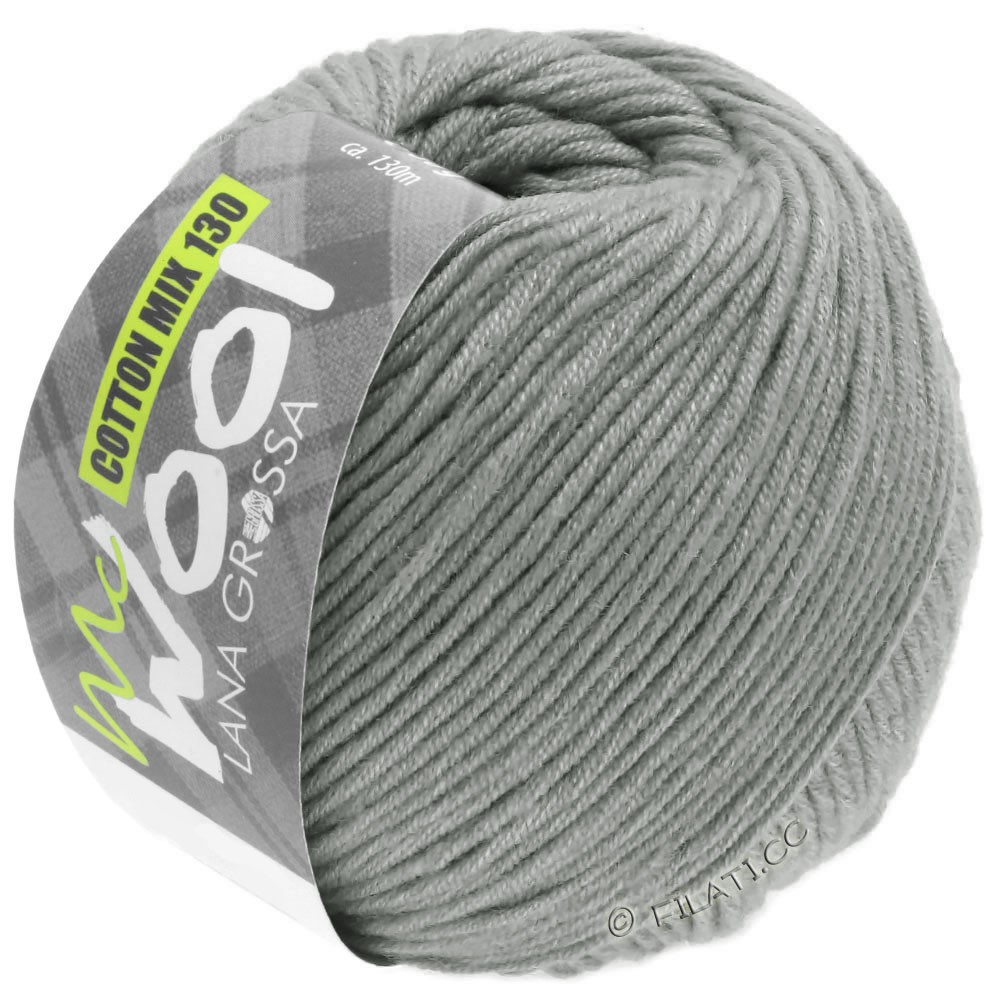Lana Grossa COTTON MIX 130 (McWool) | 154-серый