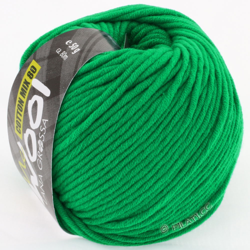 Lana Grossa COTTON MIX 80 (McWool) | 510-зелёный