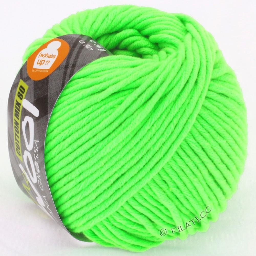 Lana Grossa COTTON MIX 80 (McWool) | 520-зелёный неон