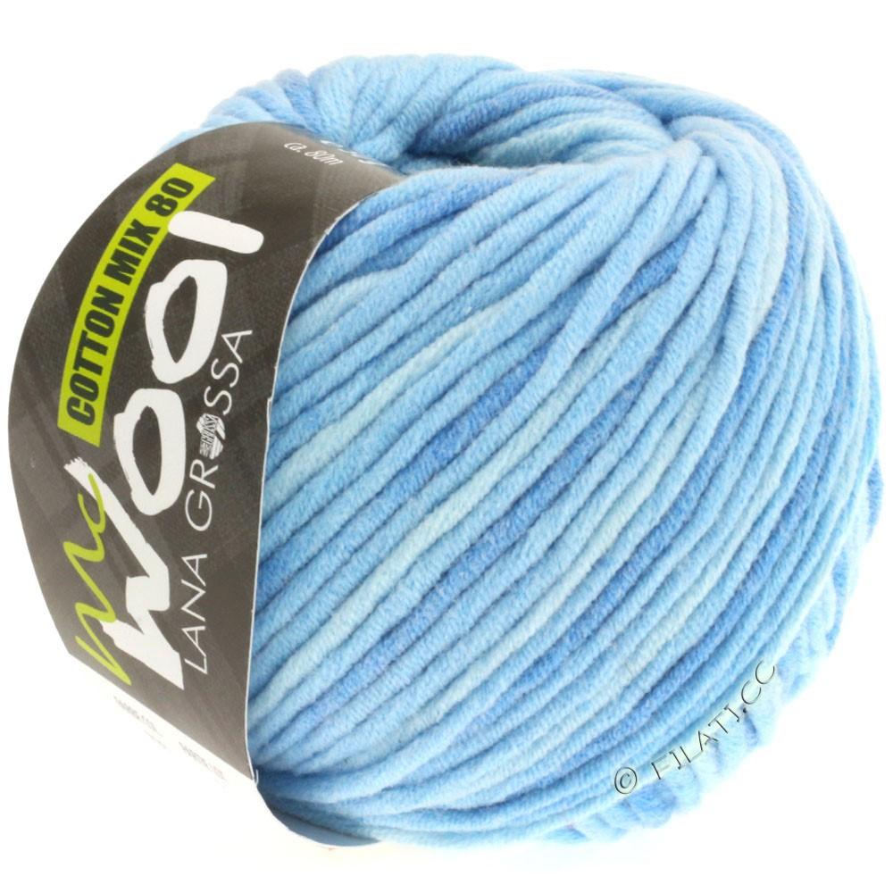Lana Grossa COTTON MIX 80 Print (McWool) | 706-светло-голубой/средне-синий