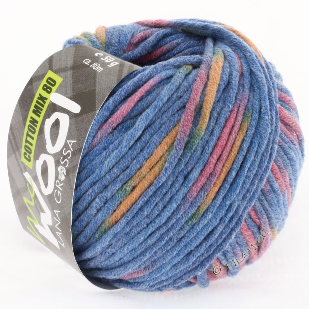 Lana Grossa COTTON MIX 80 Print (McWool) | 751-синий/пурпурный/оранжевый
