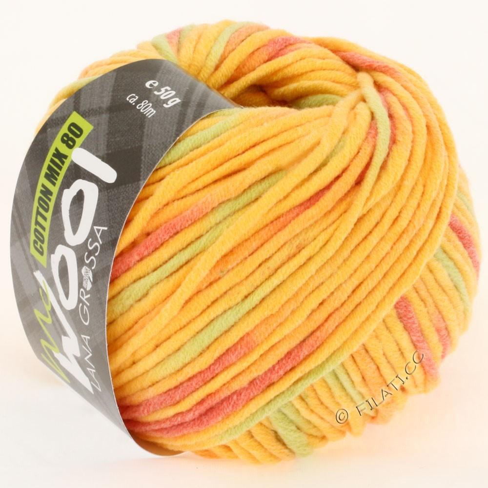 Lana Grossa COTTON MIX 80 Print (McWool) | 754-ярко-жёлтый/оранжевый/мягко-зеленый