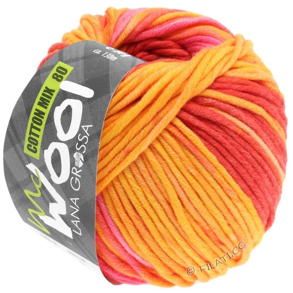 Lana Grossa COTTON MIX 80 Print (McWool) | 902-жёлтый/оранжевый/пинк/розовый/абрикос