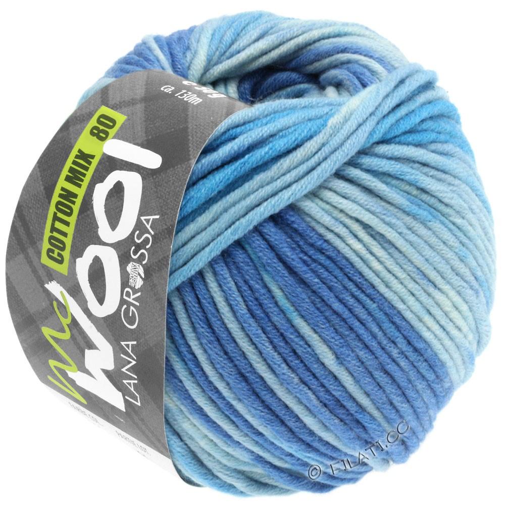Lana Grossa COTTON MIX 80 Print (McWool) | 904-джинс/средне-синий/светло-голубой/мягко-синий