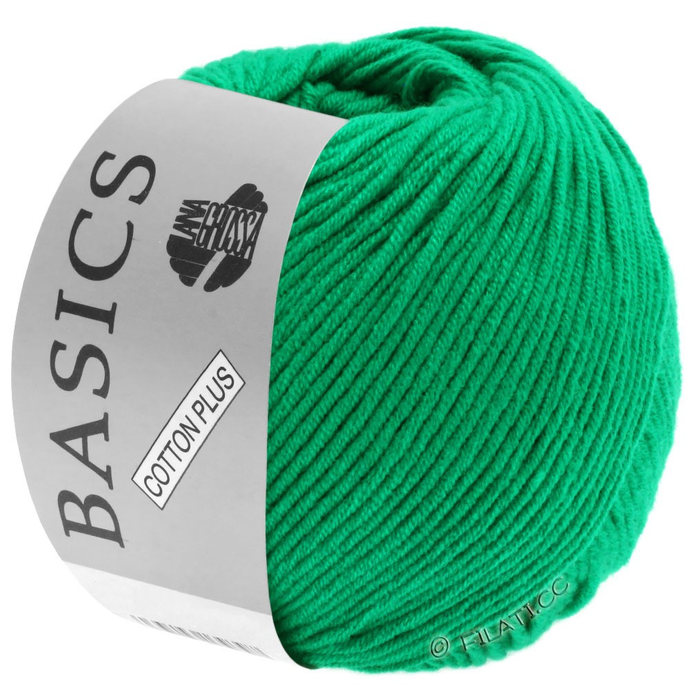 Lana Grossa COTTON PLUS | 110-зеленый изумруд