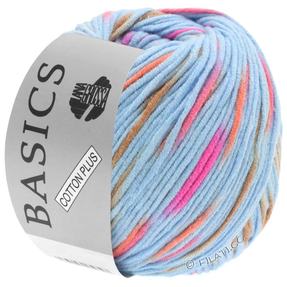 Lana Grossa COTTON PLUS | 203-светло-голубой/пинк/оранжевый/светло-коричневый