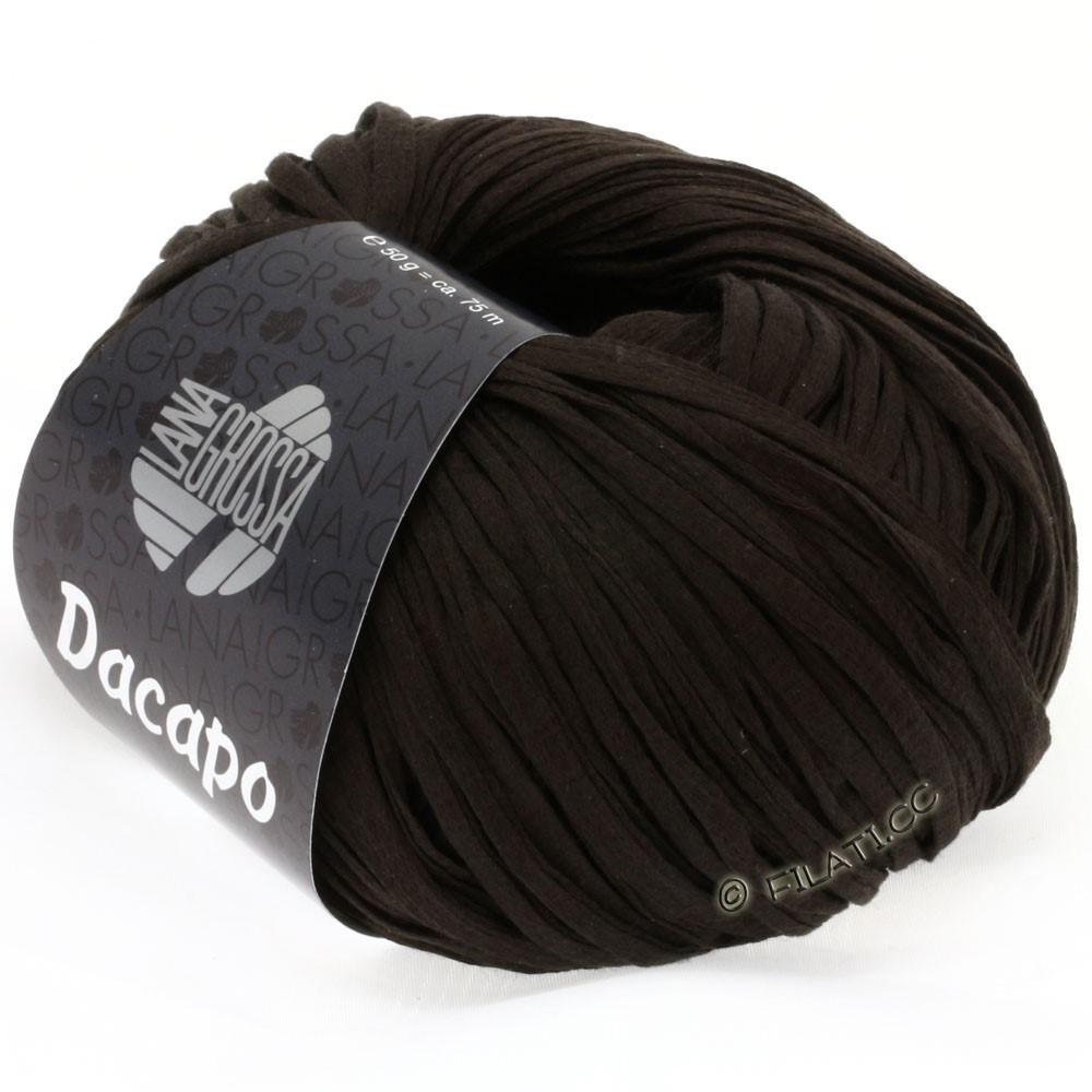 Lana Grossa DACAPO Uni | 022-чёрно-коричневый