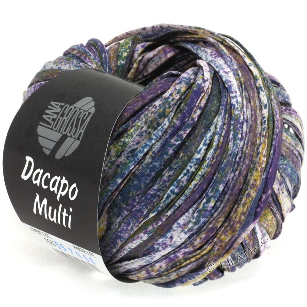 Lana Grossa DACAPO Multi | 105-пурпурный/горчичный/петроль/натуральный