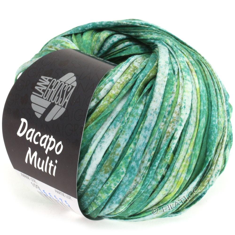 Lana Grossa DACAPO Multi | 109-изумрудный/оливковый/петроль/натуральный