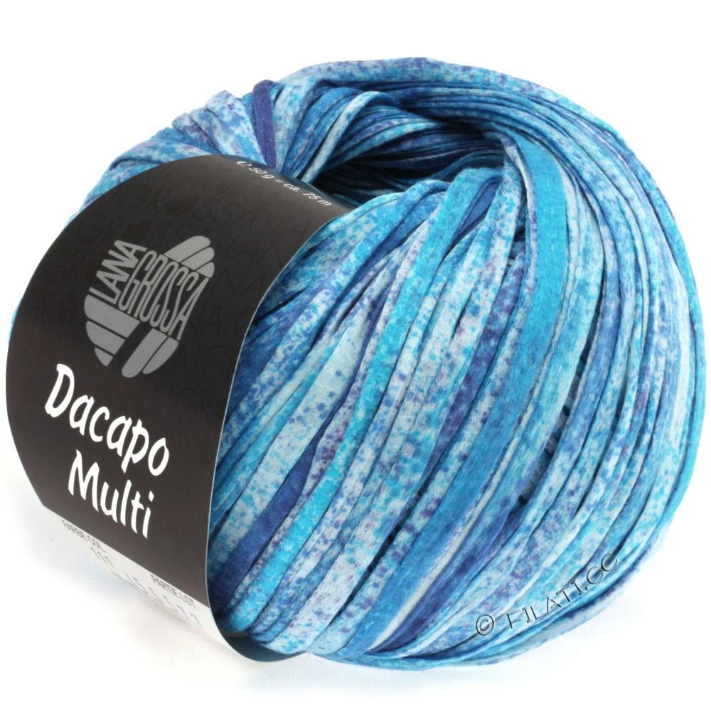 Lana Grossa DACAPO Multi | 111-бирюзовый/сине-фиолетовый/натуральный