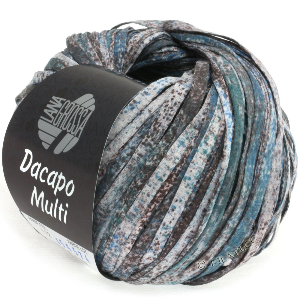 Lana Grossa DACAPO Multi | 112-серо-коричневый/джинс/розовое дерево/петроль/натуральный