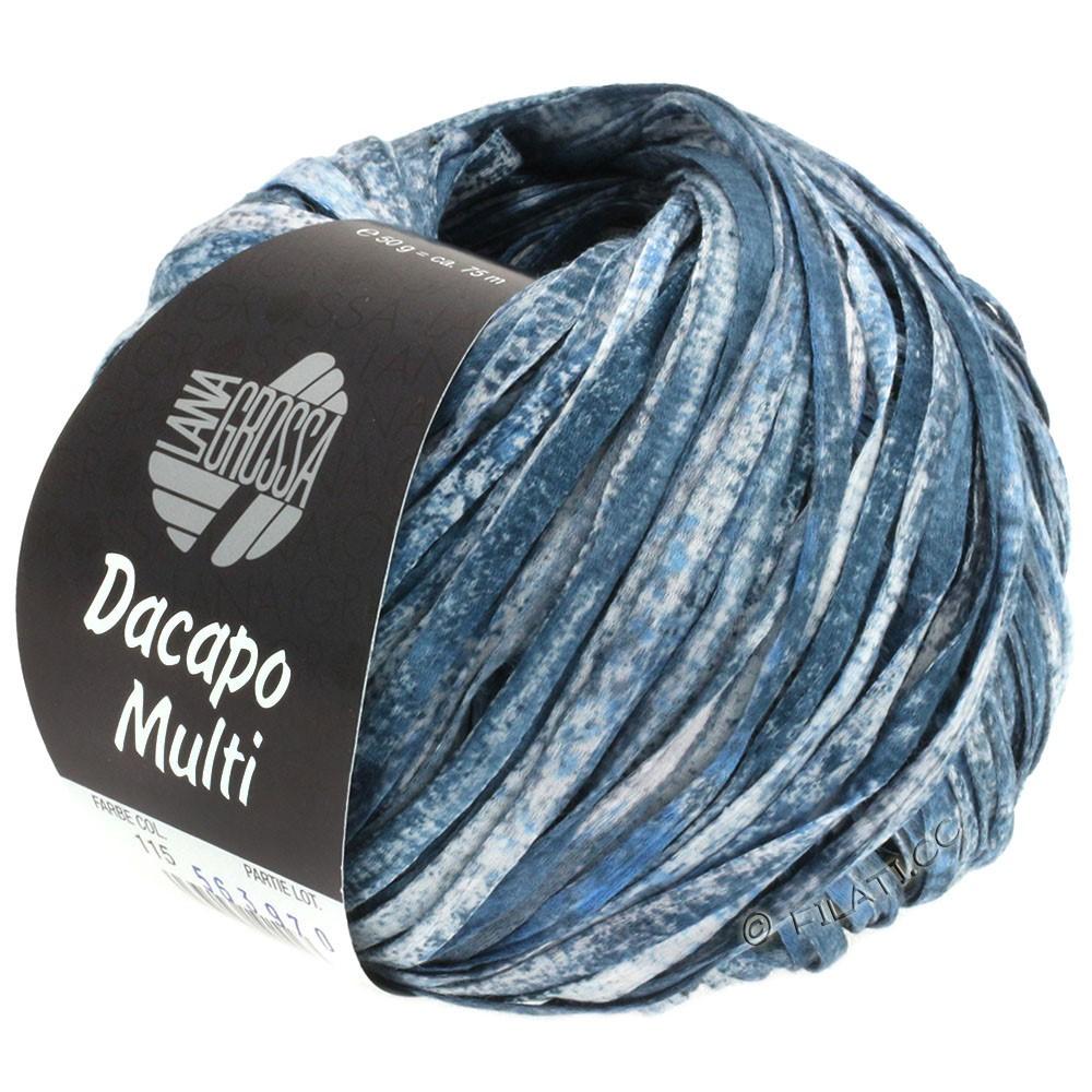 Lana Grossa DACAPO Multi | 115-светло-голубой/тёмно-синий /серый/белый