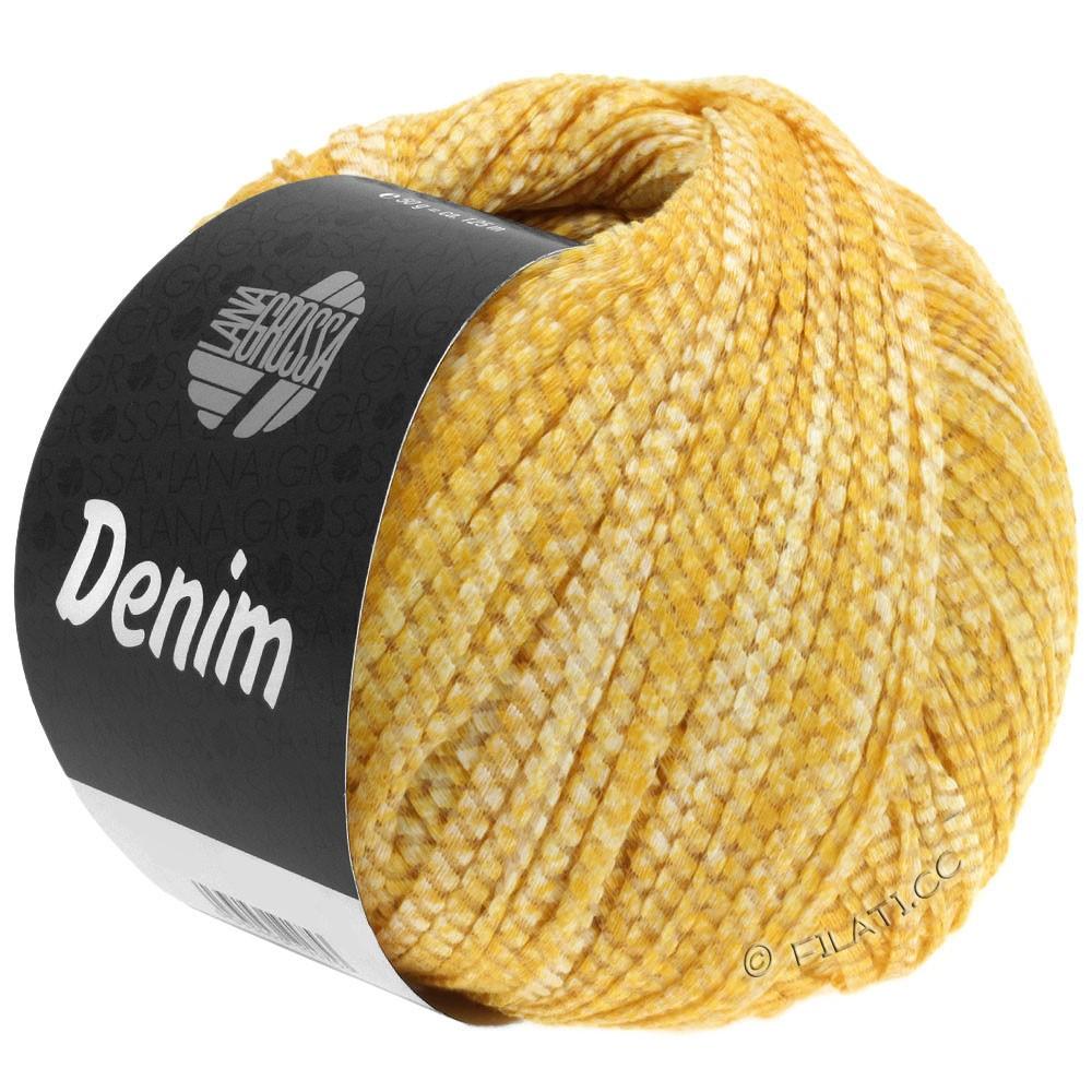 Lana Grossa DENIM | 08-жёлтый/белый