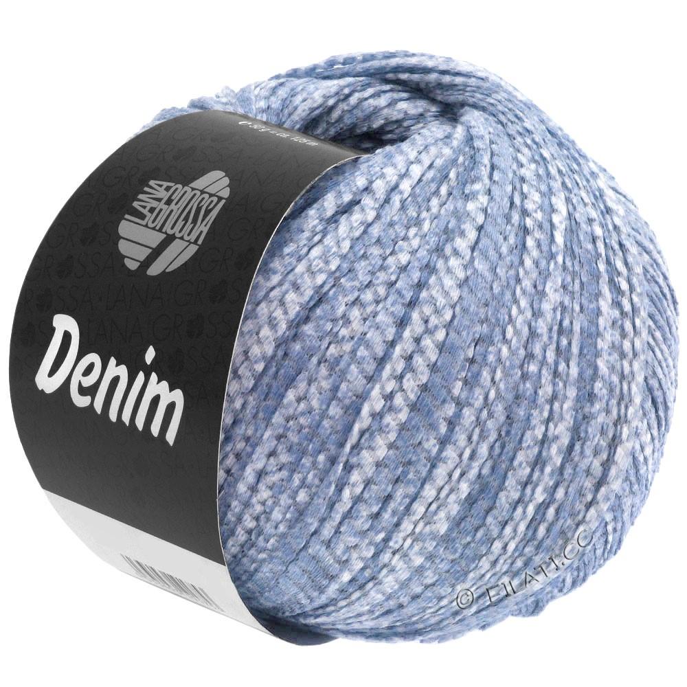 Lana Grossa DENIM   11-светло-голубой/белый