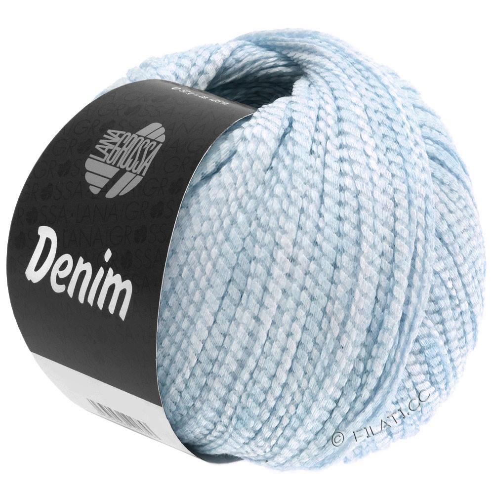 Lana Grossa DENIM   18-светло-голубой/белый