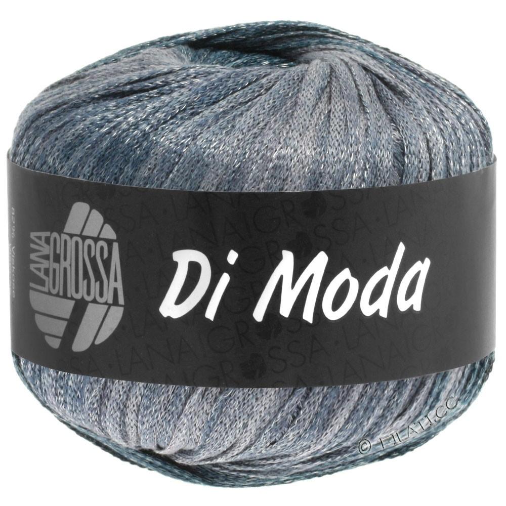 Lana Grossa DI MODA | 07-белый/мягко-синий/серо-синий/тёмно-серый