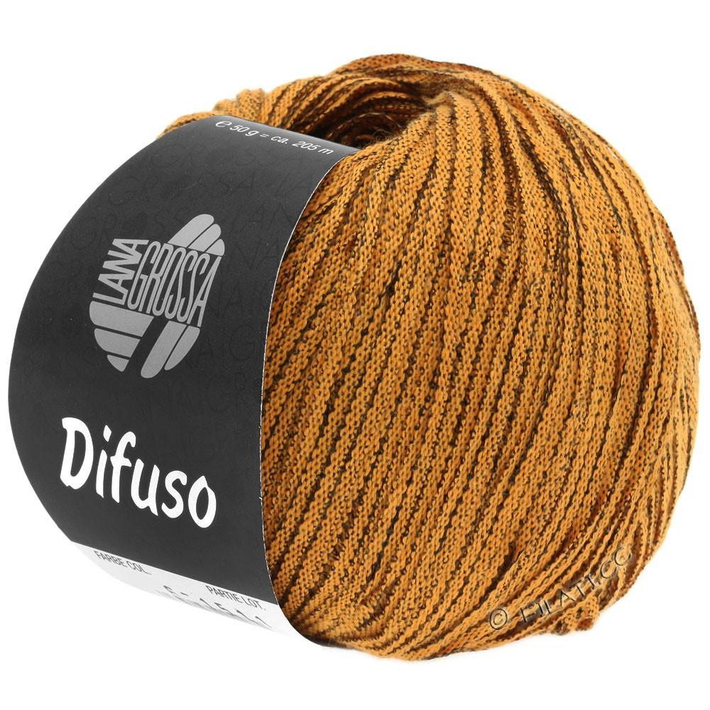 Lana Grossa DIFUSO | 02-оранжевый/чёрный