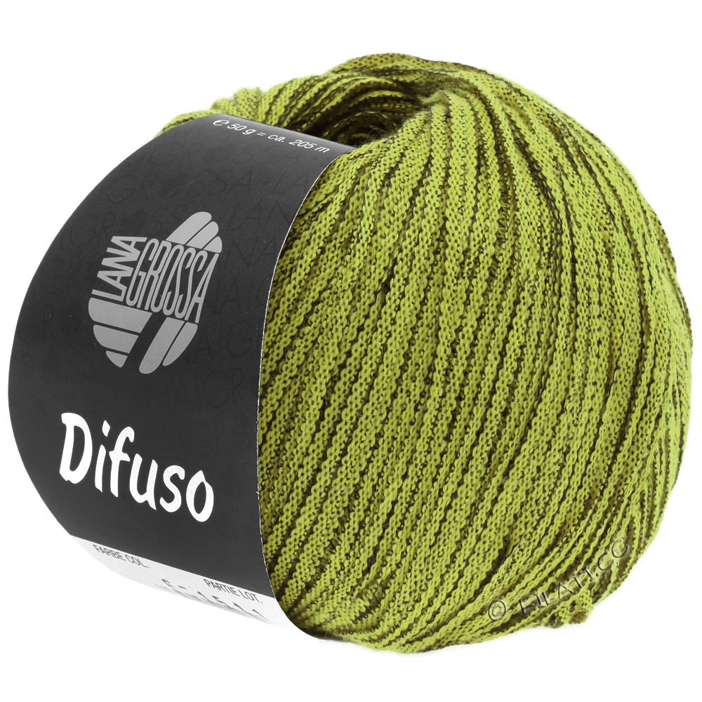 Lana Grossa DIFUSO | 07-жёлто-зеленый/чёрный