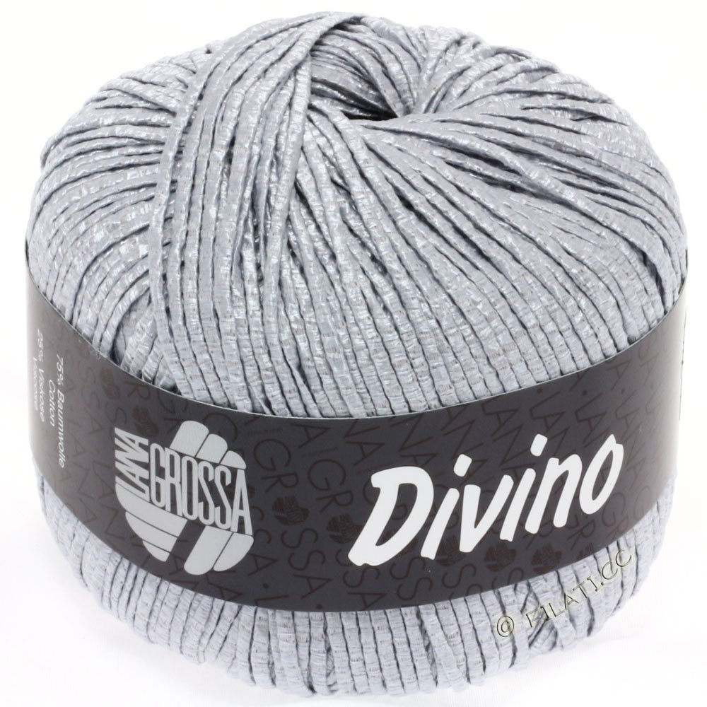 Lana Grossa DIVINO Uni уни | 06-серебристо-серый