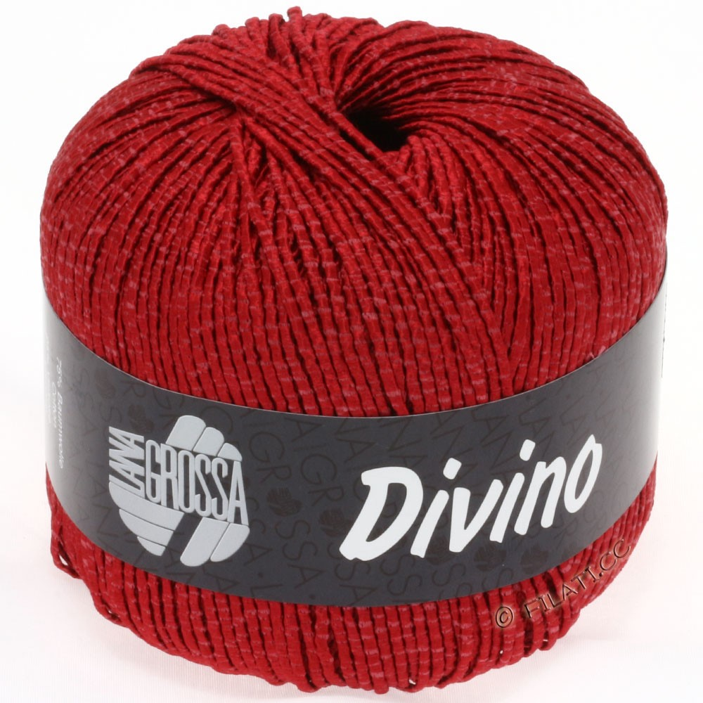 Lana Grossa DIVINO Uni уни | 09-тёмно-красный